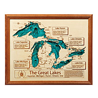 Lake Topography Art