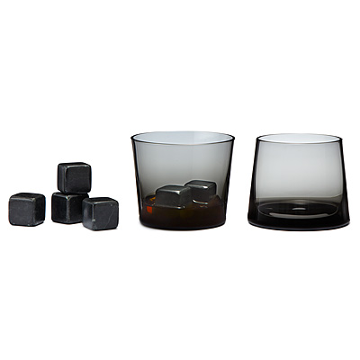 BLACK WHISKEY STONES AND GIFT SET