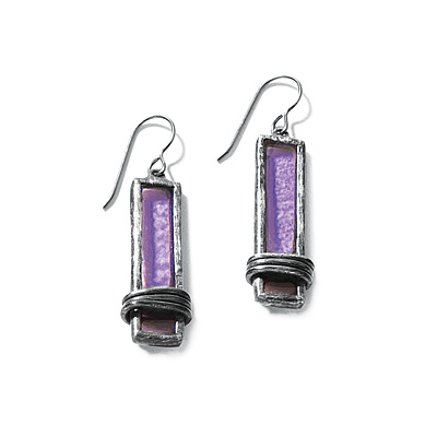 WRAPPED WINDOWPANE EARRINGS
