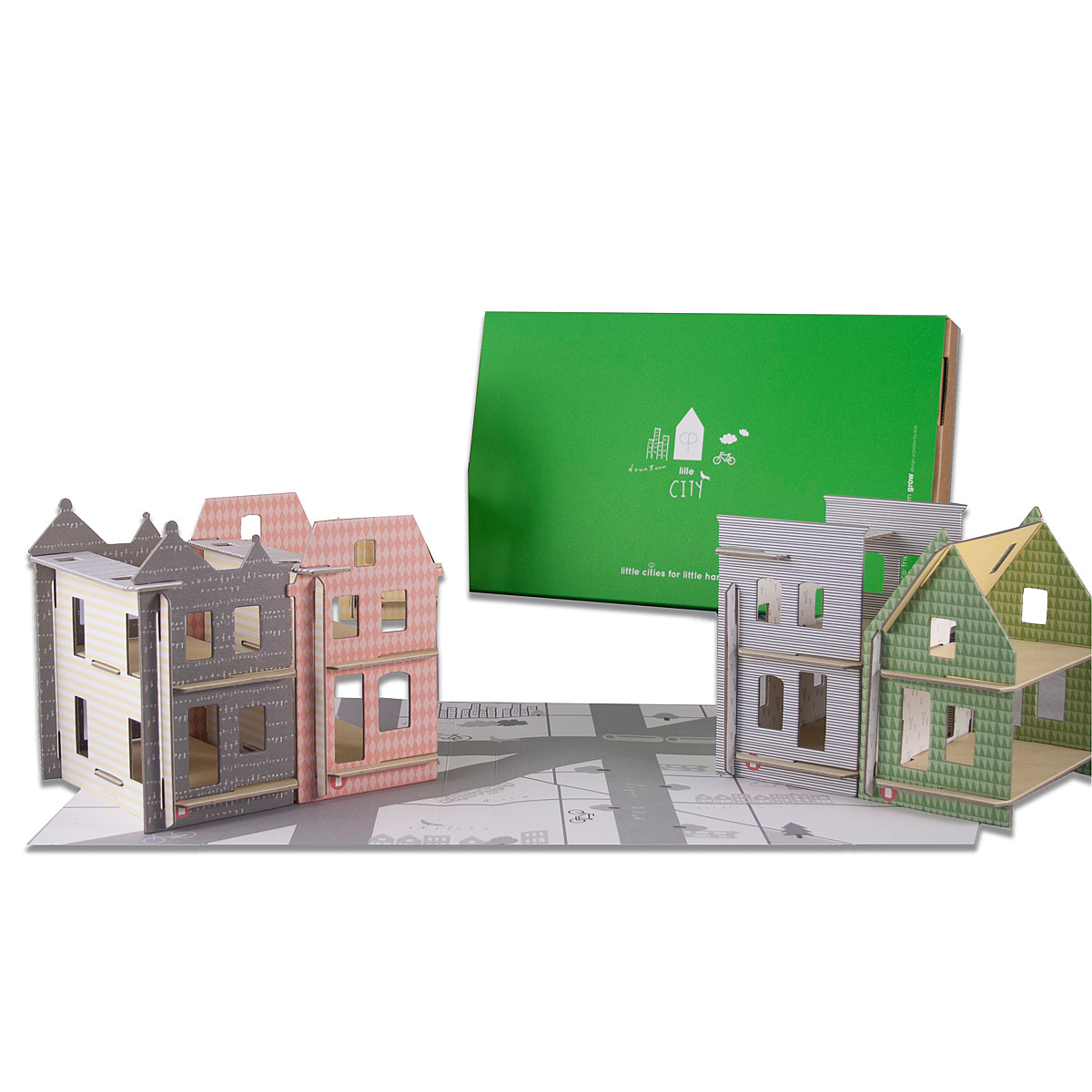 BUILD YOUR OWN CITY  Cardboard Dollhouse Set  UncommonGoods