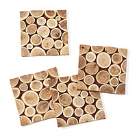 Reclaimed Wood Branch Coasters - Set of 4