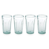 Recycled Soda Bottle Glasses - Set of 4