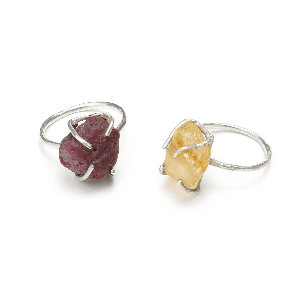 RAW GEMSTONE RING | silver necklace, natural stones | UncommonGoods