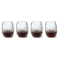 Grape Stemless Wine Glasses - Set of 4