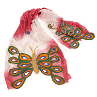 FELTED SILK BUTTERFLY SCARF