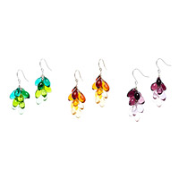 Glass Teardrop Earrings