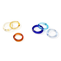 Glass Rings - Set of Three