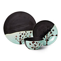 Cherry Blossom Stoneware Dishware Collection