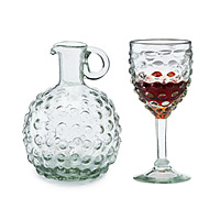 Grape Goblets and Carafe