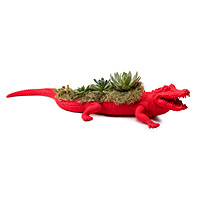 Neon Crocodile Planter
