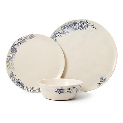 KASHMIR PORCELAIN DISHWARE COLLECTION
