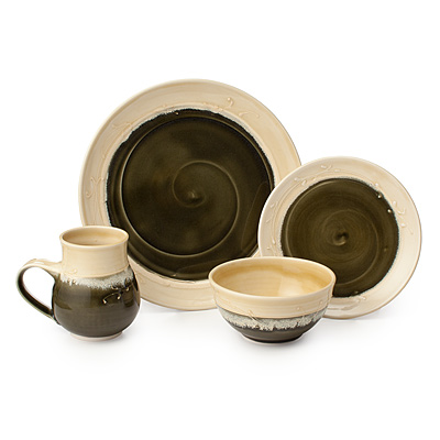 OLIVE SWIRL PORCELAIN DISHWARE COLLECTION