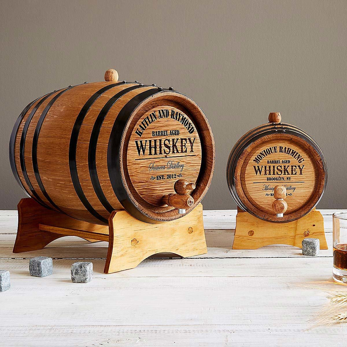 Personalized Gifts: PERSONALIZED WHISKEY BARREL