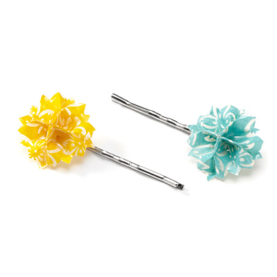 ORIGAMI PAPER HEAD PINS - SET OF 2