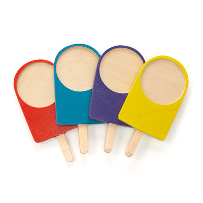WOODEN POPSICLE COASTERS - SET OF 4