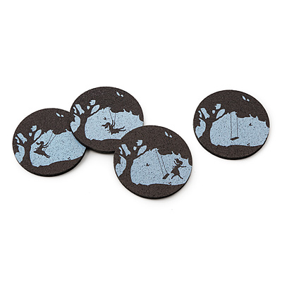 RECYCLED TIRE COASTERS - WHIMSICAL MEMORIES