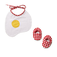 Sunnyside Up! baby bib and Bootie Set
