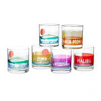 California Beach Glasses - Set of 6