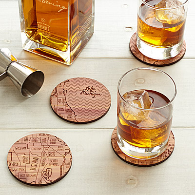 NEIGHBORWOODS MAP COASTERS