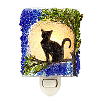 Recycled Glass Cat Nightlight