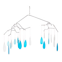 Glass Raindrop Mobile