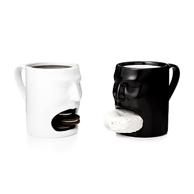 FACE MUGS - BLACK AND WHITE - SET OF 2