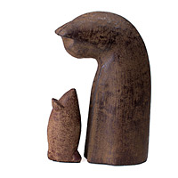 Cat and Mouse Garden Sculpture Set