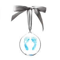 CUSTOM BABY FOOTPRINT ORNAMENT