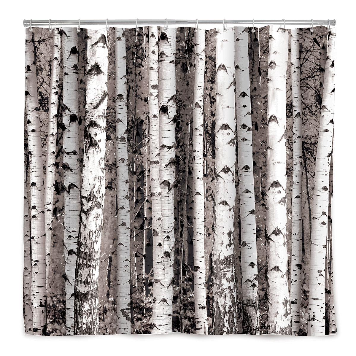 BIRCH FOREST SHOWER CURTAIN | Tree Décor, Bath Accessories ...