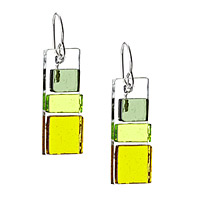 Block Glass Earrings