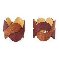 Couples Wood Bracelets - Set of Two