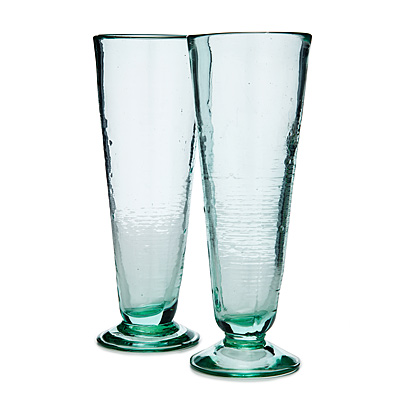 RECYCLED CONICAL GLASSES - SET OF 2