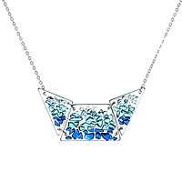 Shattered glass bib necklace