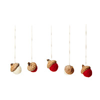 Acorn Ornaments - Set of 5