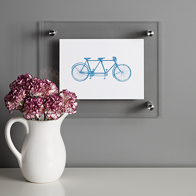 TANDEM BICYCLE PRINT