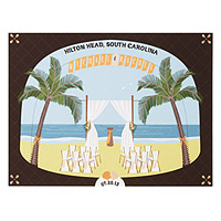 Personalized Beach Wedding Scene