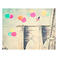 Balloons Over Brooklyn Bridge