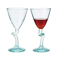 Twisted Wine Glasses - Set of 2
