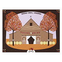 Personalized Barn Wedding Scene