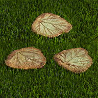 Leaf Stepping Stones - Set of 3