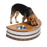 Wine Barrel Dog Feeder