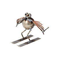 Ski Bird Desktop Sculpture