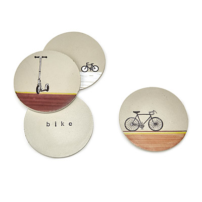 CONCRETE BIKE COASTERS