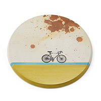 Concrete Bike Wall Trivet