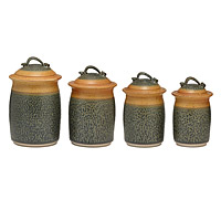 Stoneware Canister Set