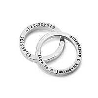 LATITUDE LONGITUDE CUSTOM RINGS- SET OF 2