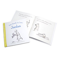 Personalized Two Hands to Love You Baby Book