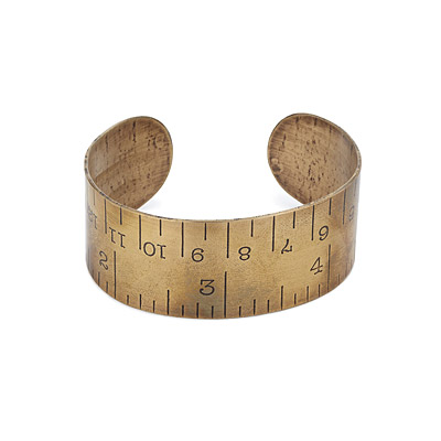BRASS RULER CUFF
