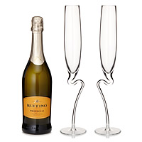 Curved Champagne Glasses - Set of 2