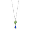 Double Link Sea Glass Necklace